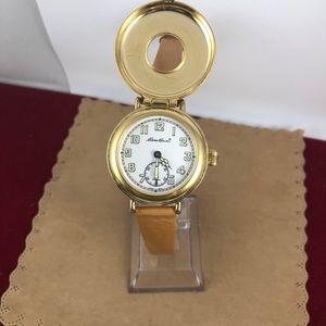Eddie Bauer Accessories - Vintage Eddie Bauer 18KGP Field Watch Flip Top